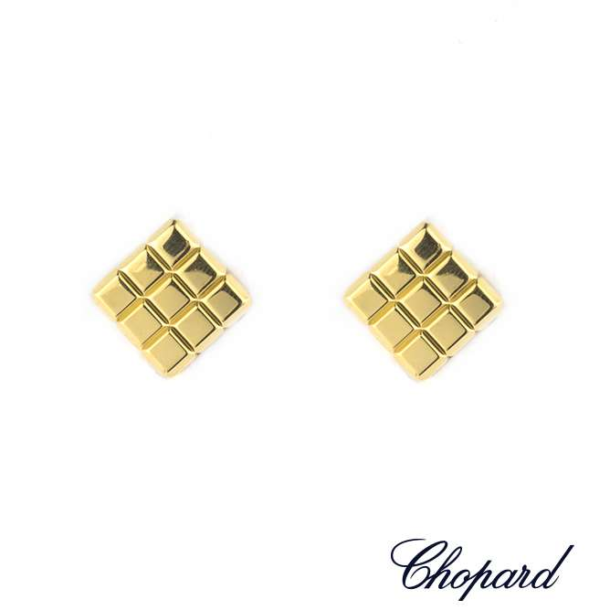 Chopard 18k Yellow Gold Ice Cube Earrings 84/3639-0001